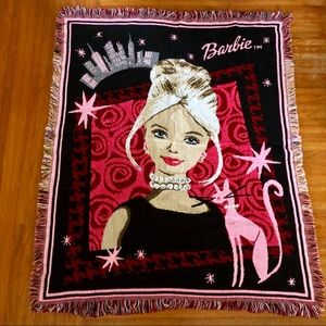 Barbie New York City blanket
